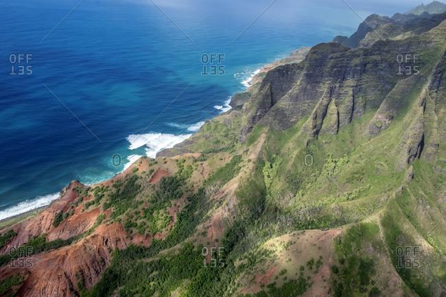 Na Pali Coast, Kauai, Hawaii, USA.