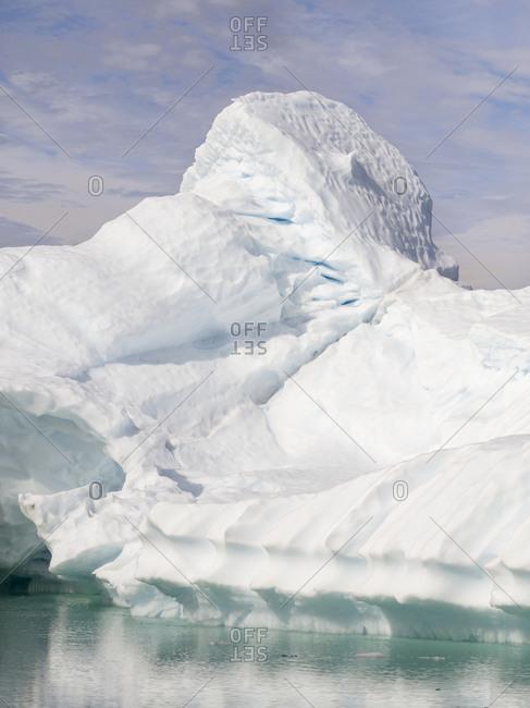 Icebergs in Disko Bay, Greenland, Danish Territory.