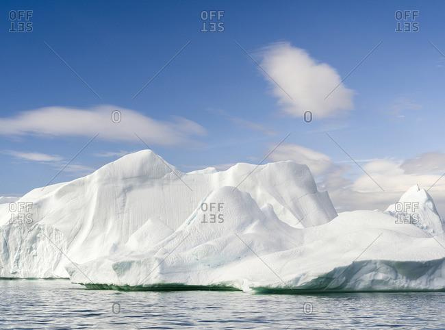 Iceberg in the Uummannaq Fjord System, Greenland, Danish overseas colony.