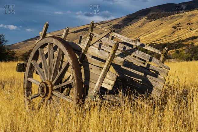 Argentina, Patagonia. Old rustic wagon