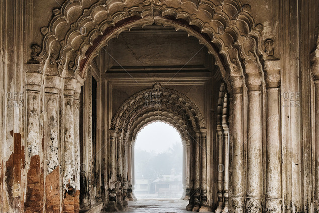 Puthia Temple Complex in morning mist, Rajshahi Division, Bangladesh