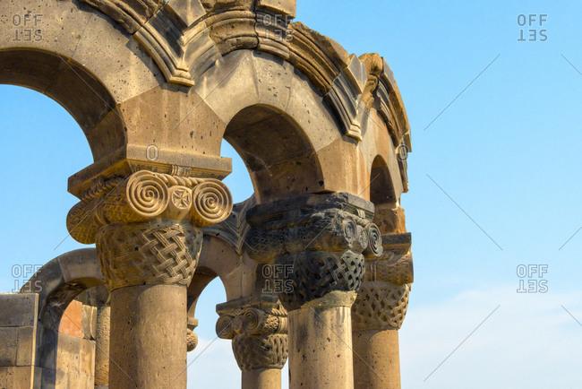 Zvartnots Cathedral, UNESCO World Heritage Site, Vagharshapat, Armavir Province, Armenia