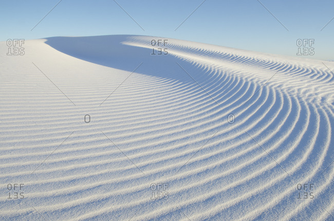 Ripple patterns in gypsum sand dunes, White Sands National Monument, New Mexico