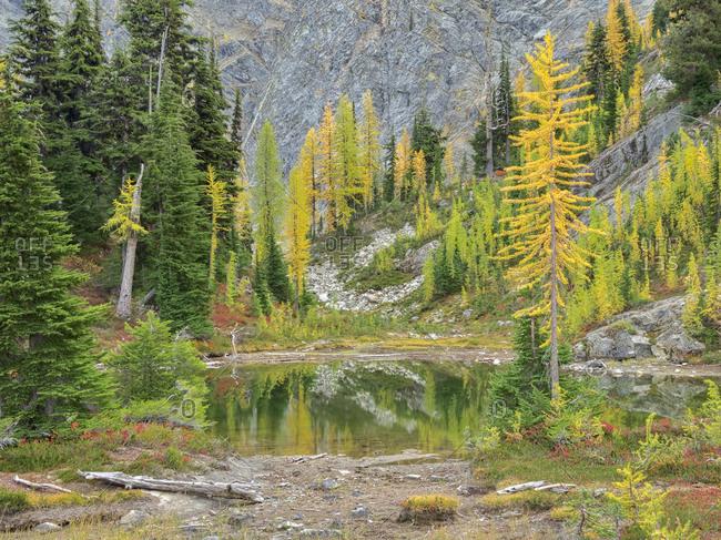 USA, Washington State. Okanogan-Wenatchee National Forest, Alpine pond