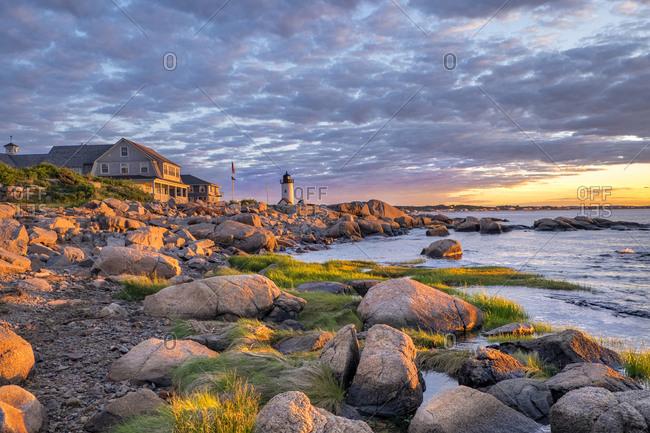 Annisquam Lighthouse, Gloucester, Massachusetts, USA.
