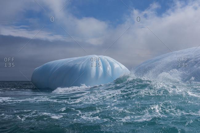 British Overseas Territory, South Sandwich Islands, Saunders Island. Large iceberg off the coast of Saunders Island.
