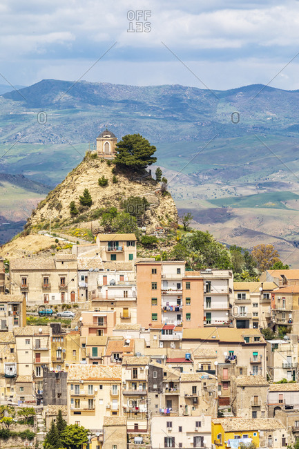 Italy, Sicily, Enna Province, Centuripe. The ancient town of Centuripe in eastern Sicily. The town is pre-Roman, dating back to the 5th century BC.