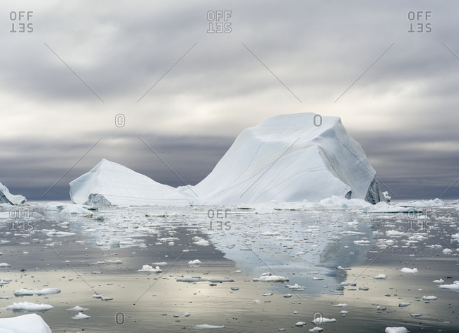 Ilulissat Icefjord at Disko Bay, Greenland, Danish Territory.