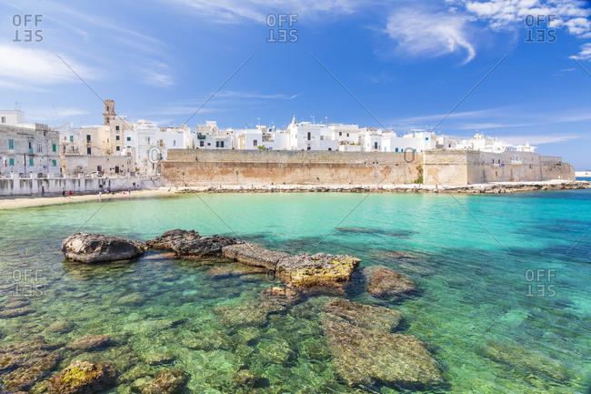 Italy, Apulia, Metropolitan City of Bari, Monopoli. Porta Vecchia (Old Port).