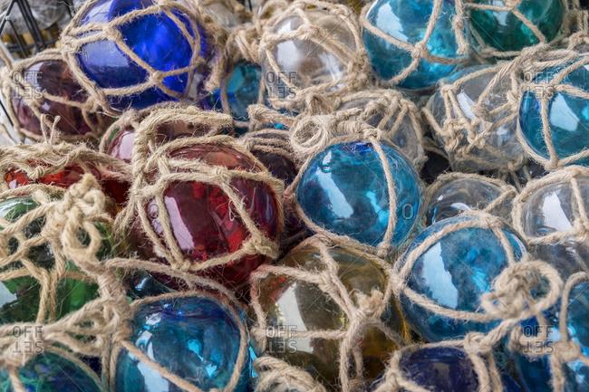 Close-up details of Glass floats, USA