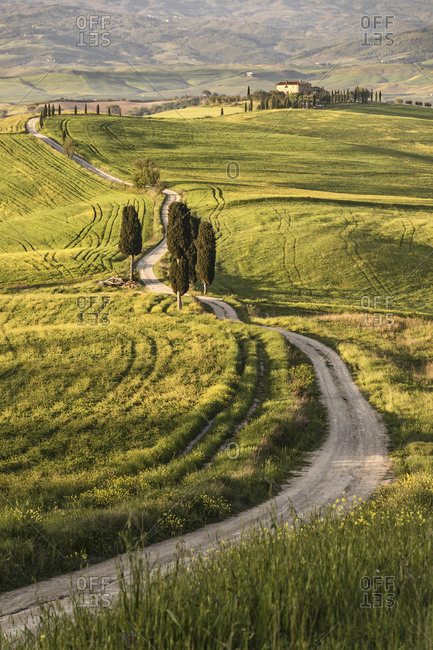 April 25, 2018: Europe, Italy, Tuscany, Val d'Orcia