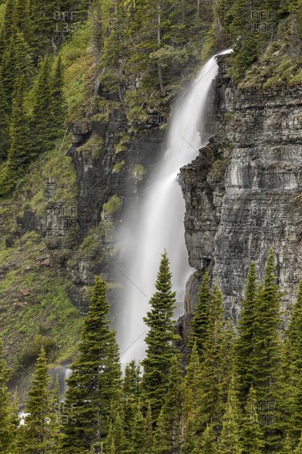 Waterfall, Glacier National Park, Montana.