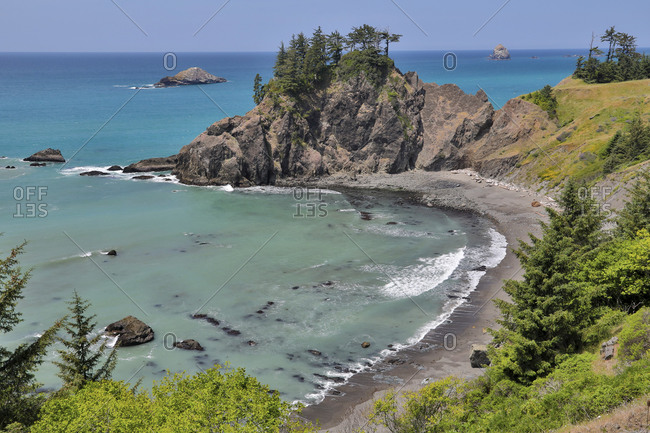 Pacific coastline along Highway 101. Samuel H. Boardman State Scenic Corridor, southern Oregon coast