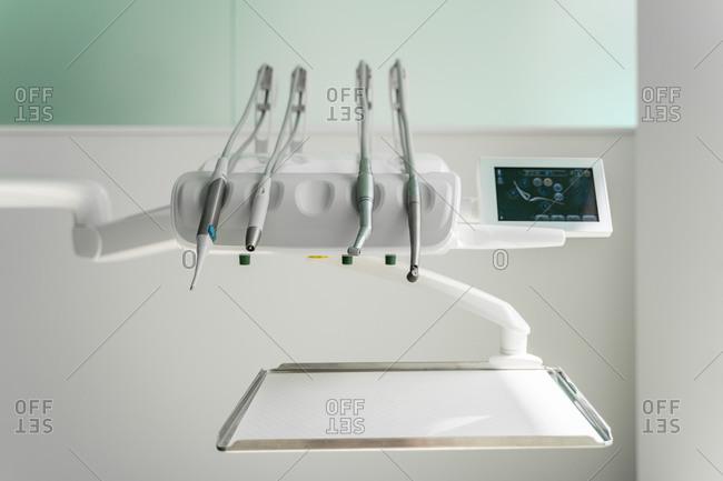 Dental equipment's arranged in clinic