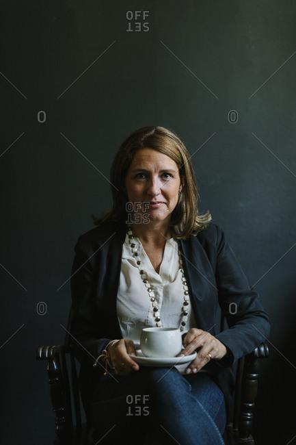 Mature woman looking at camera
