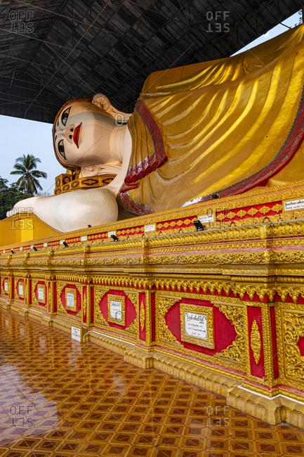 Myanmar- Mon state- Dawei- Reclining Buddha at Shwethalyaung Daw Mu