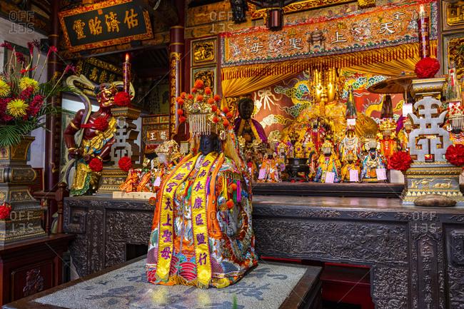 Taiwan- Tainan- Altar at Grand Mazu Temple