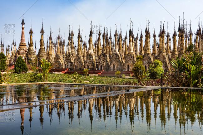 Myanmar- Shan state- Kakku- Kakkus pagoda with its 2500 stupas