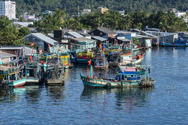 Vietnam- Phu Quoc island- Fishing boats in Duong Dong fishing harbor