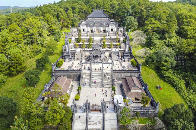 Vietnam- Hue- Khai Dinh Mausoleum- aerial view