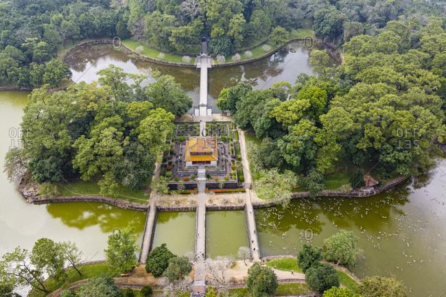 Vietnam- Hue- Minh Mang Tomb - aerial view