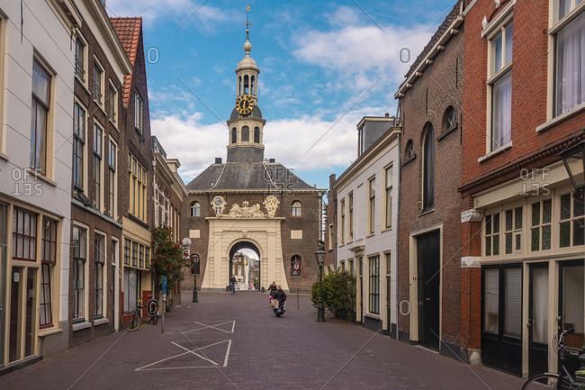 Netherlands- South Holland- Leiden- City gate Zijlpoort