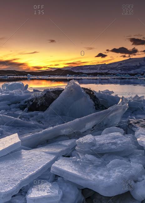 Diamond beach at sunset- Iceland