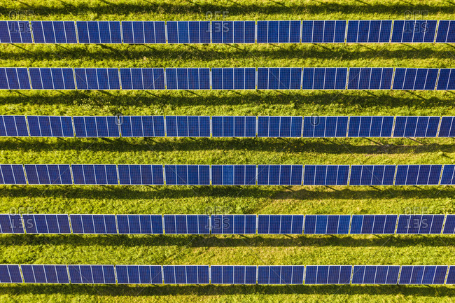 Aerial view of solar power station