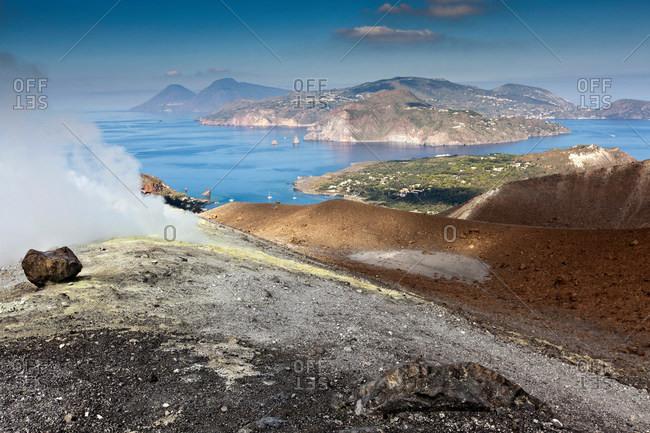 Hot spring overlooking islands