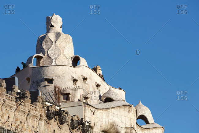 Architectural detail, Casa Mila, Barcelona, Spain
