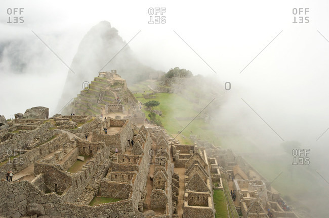 Early morning mist at Machu Pichu, Peru