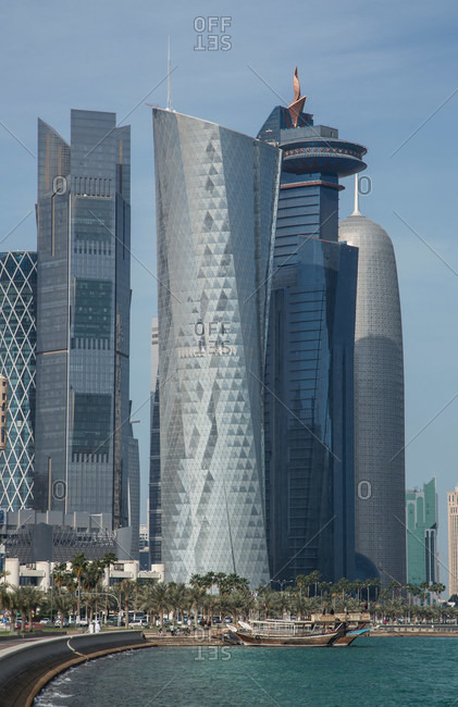 Skyscrapers of downtown Doha, Qatar