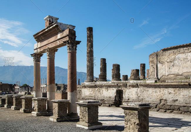 Ruins of The Forum, Pompeii, Campania, Italy