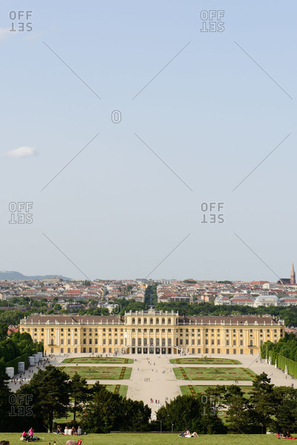 Schonbrunn Palace and Gloriette hill, Vienna, Austria