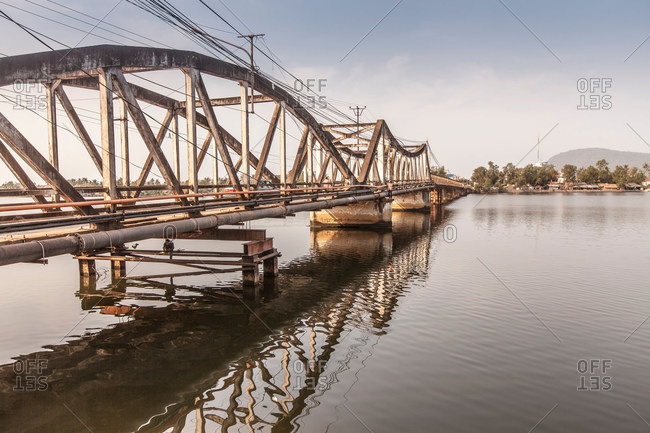 Very old Bridge, Kampot, Cambodia