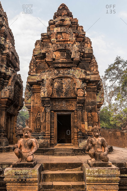 One of the libraries, Banteay Srei Temple ruins, Angkor Wat Complex, Cambodia
