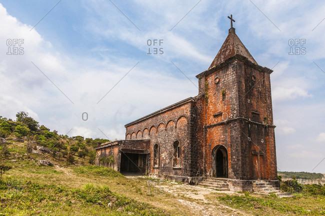 Bokor Hill Station, Old Roman Catholic Church, Preah Monivong National Park, Kampot, Cambodia