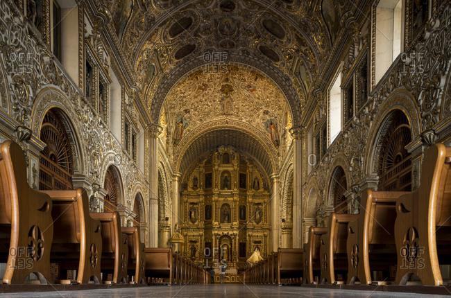 Interior of Iglesia de Santo Domingo, Oaxaca, Mexico