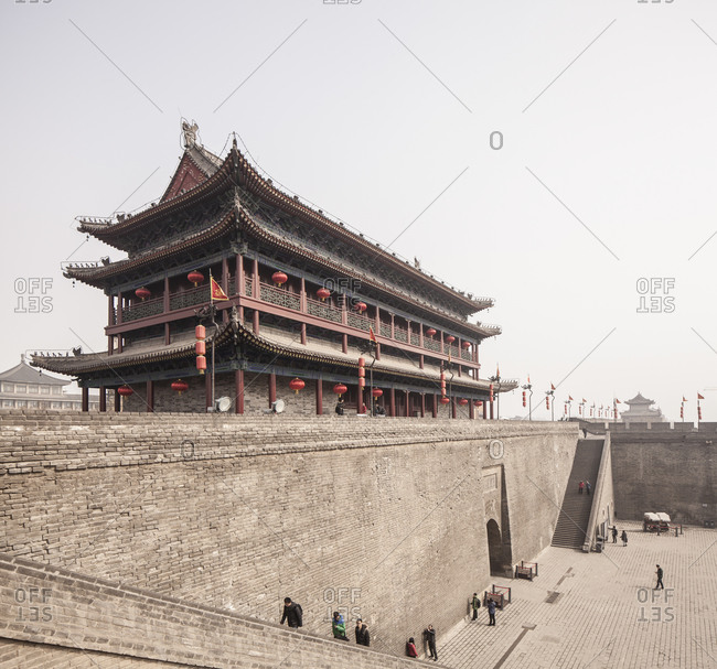 Xian Old City Wall, South Gate in daytime