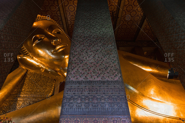 Detail of the Temple of the Reclining Buddha, Wat Pho, Bangkok, Thailand, Southeast Asia