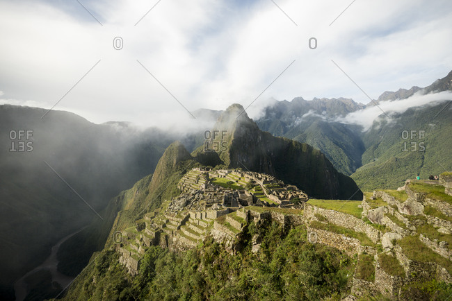 Distant view of Machu Picchu, Sacred Valley, Peru, South America