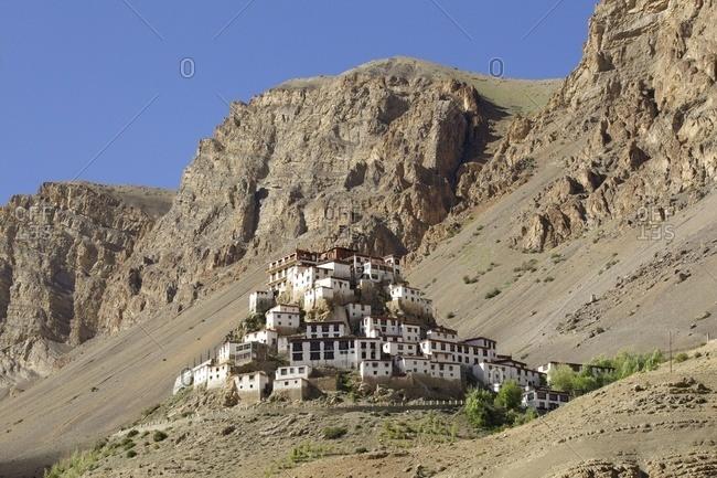 Ki Gompa Monastery in the Himalayas, Kibber, Himachal Pradesh, India