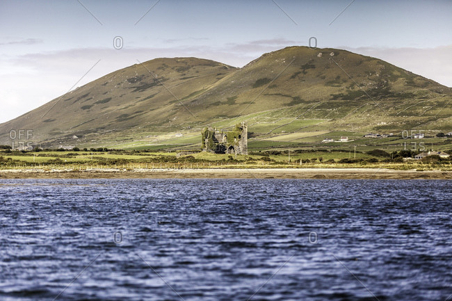 View of Ballycarbery Castle, Cahersiveen, County Kerry, Ireland