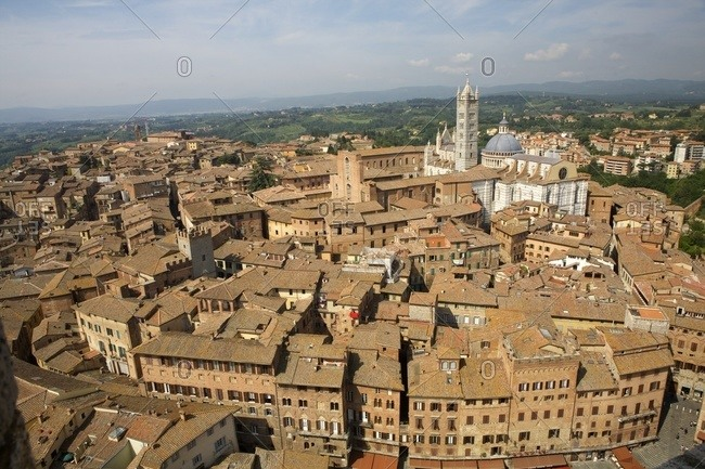 Nice view in Siena, Tuscany, Italy