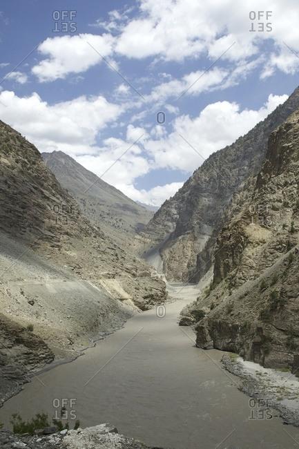 Spiti river and valley, Kalpa, Himachal Pradesh, India, Asia
