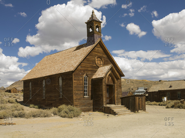 Abandoned chapel in Bodie ghost town, Bodie National Park, California, USA