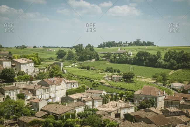 Rooftop view over Saint-Emilion, Aquitaine, France