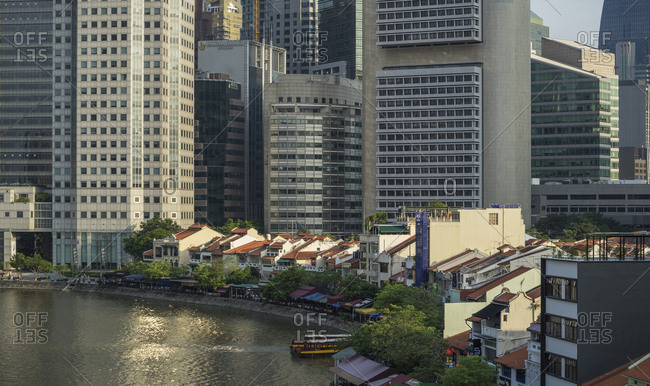Singapore river and financial district, Singapore