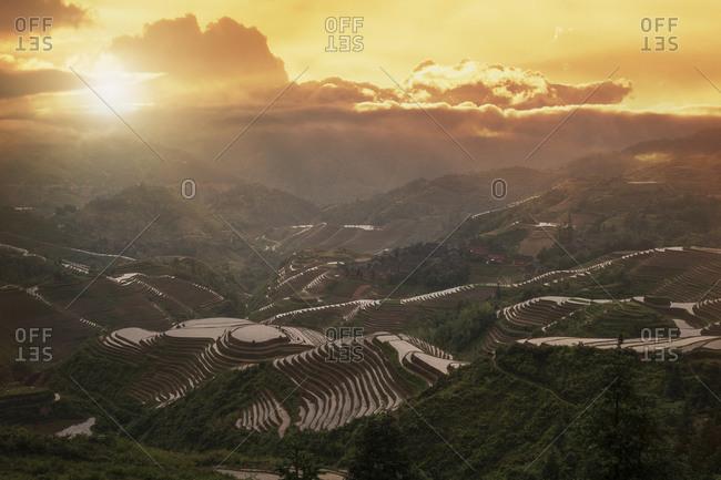 Terraced fields, Longsheng, Guangxi Province, China