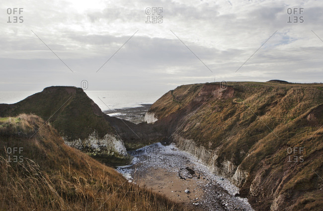 Cliffs and coastline, Flamborough Head, UK